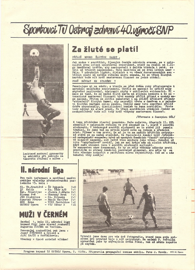 Bulletin 84 - 85 Opava - Slušovice