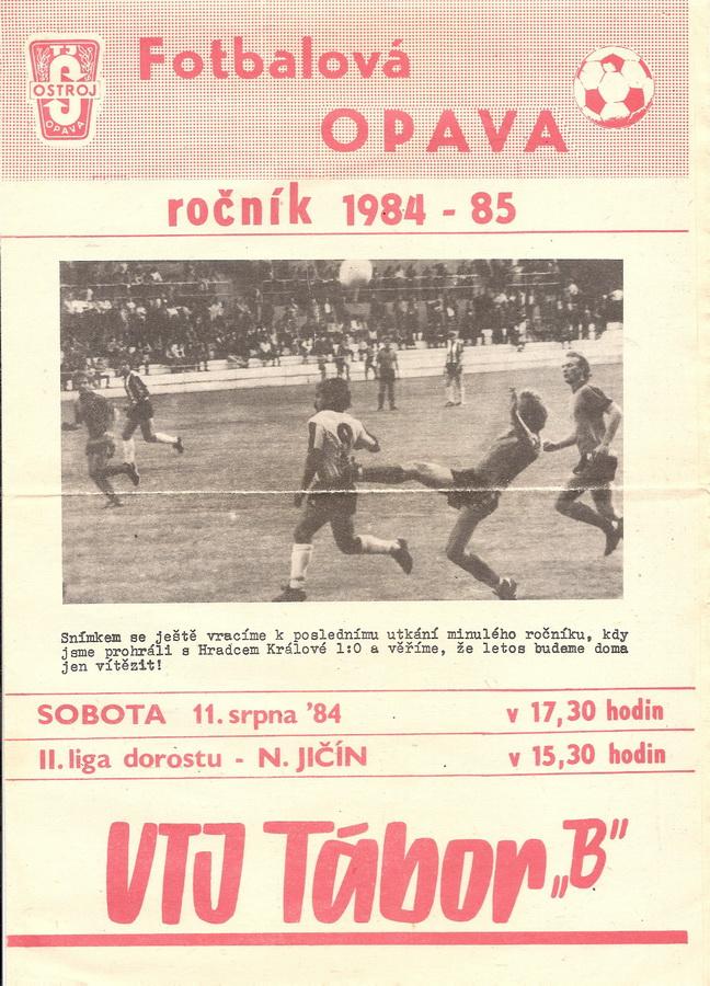 "Bulletin 84 - 85 Opava - Tábor ""B"""