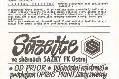 Bulletiny 91 - 92: Opava - Pardubice