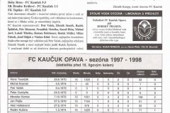 Bulletiny 97 - 98: Opava - Slavia