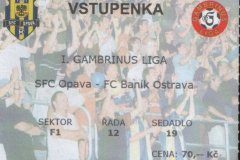 2004 - 2005 4. SFC OPAVA - Baník