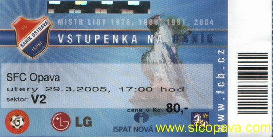 2004 - 2005 18. Baník - SFC OPAVA