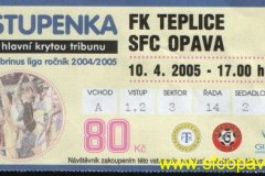 2004 - 2005 22. Teplice - SFC OPAVA