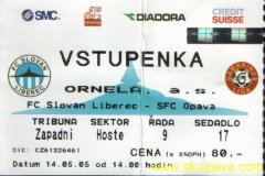 2004 - 2005 27. Liberec - SFC OPAVA