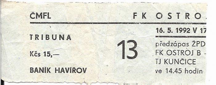 1991 - 1992 Opava - Havířov