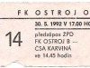 1991 - 1992 Opava - Benešov