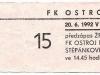 1991 - 1992 Opava - Zlín
