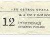 1992 - 1993 Opava - České Budějovice (pohár)
