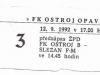 1992 - 1993 Opava - Jablonec