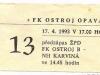 1992 - 1993 Opava - Plzeň