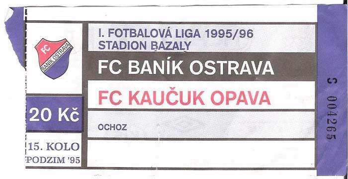 1995 - 1996 Ostrava - Opava